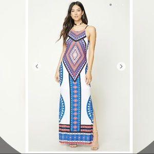 Halter Geo Maxi Dress F21